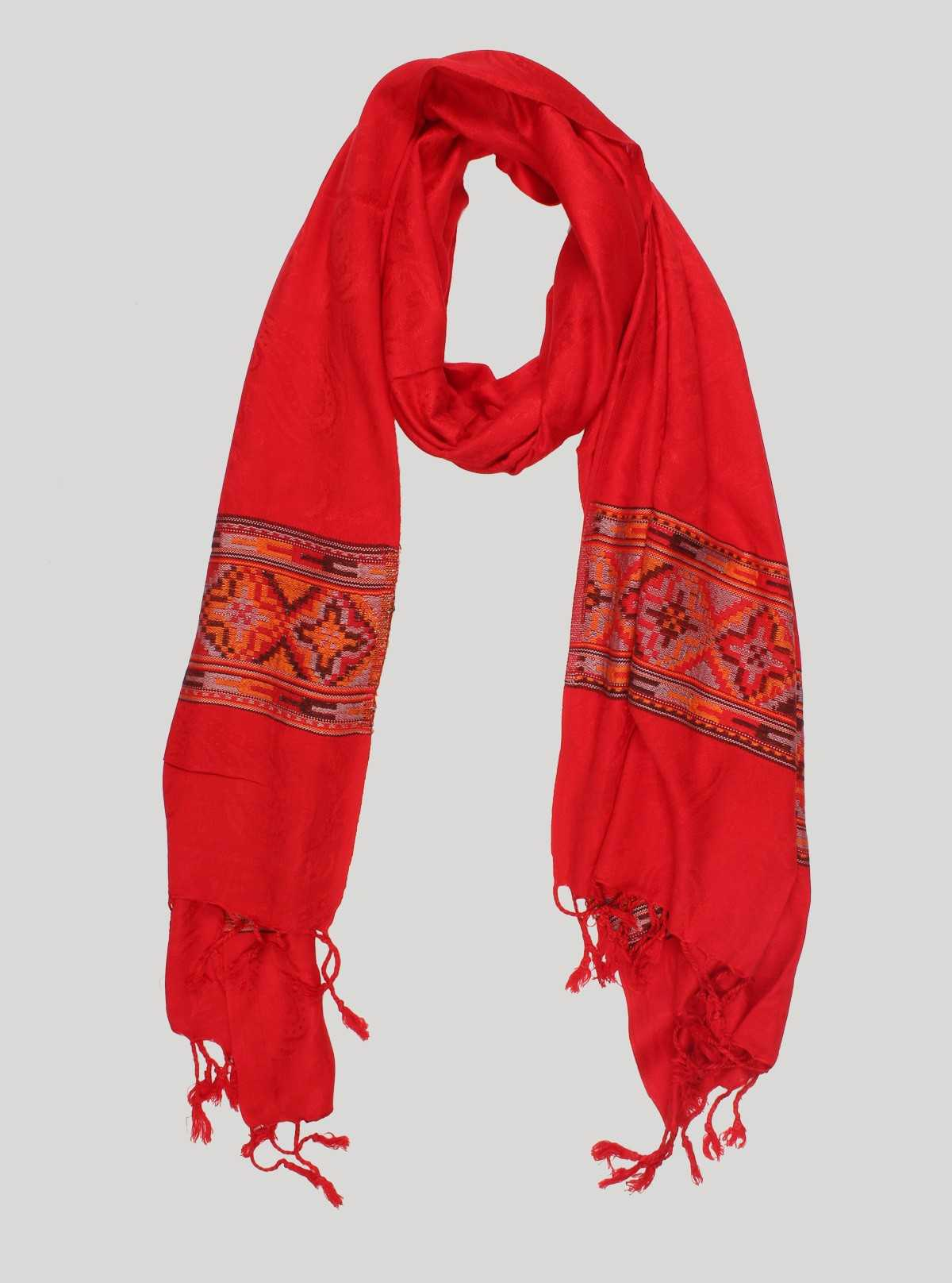 Red Color Viscose Scarf Boer and Fitch - 1