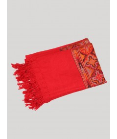 Red Color Viscose Scarf Boer and Fitch - 3