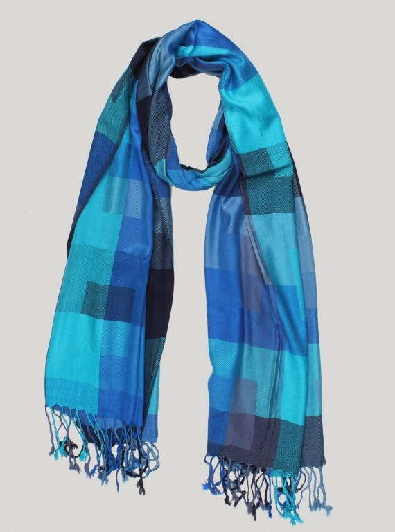 Blue Color Viscose Scarf