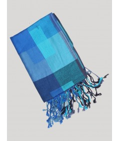 Blue Color Viscose Scarf Boer and Fitch - 3