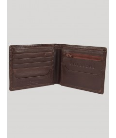 Mens Brown Leather Wallet Boer and Fitch - 1