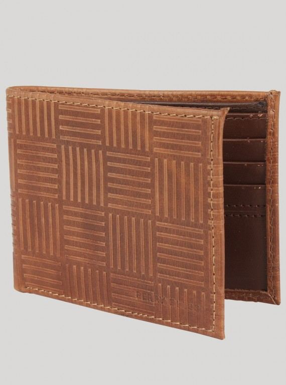 Beige Square Wallet Boer and Fitch - 1