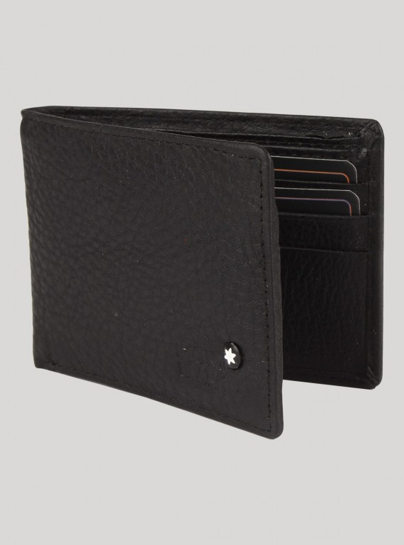 Black Self Design Wallet Boer and Fitch - 1