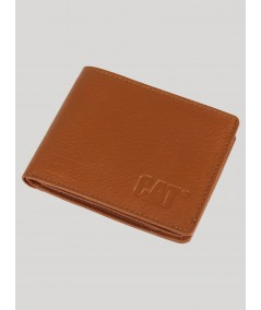 Beige Plain Leather Wallet Boer and Fitch - 1