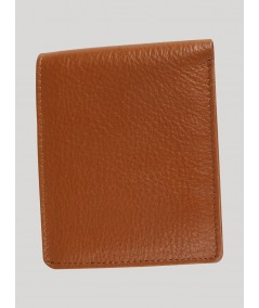 Beige Plain Leather Wallet Boer and Fitch - 2