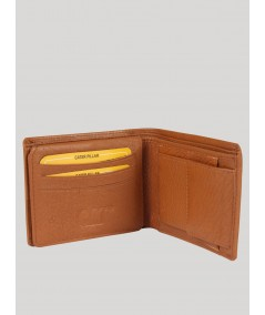 Beige Plain Leather Wallet Boer and Fitch - 5