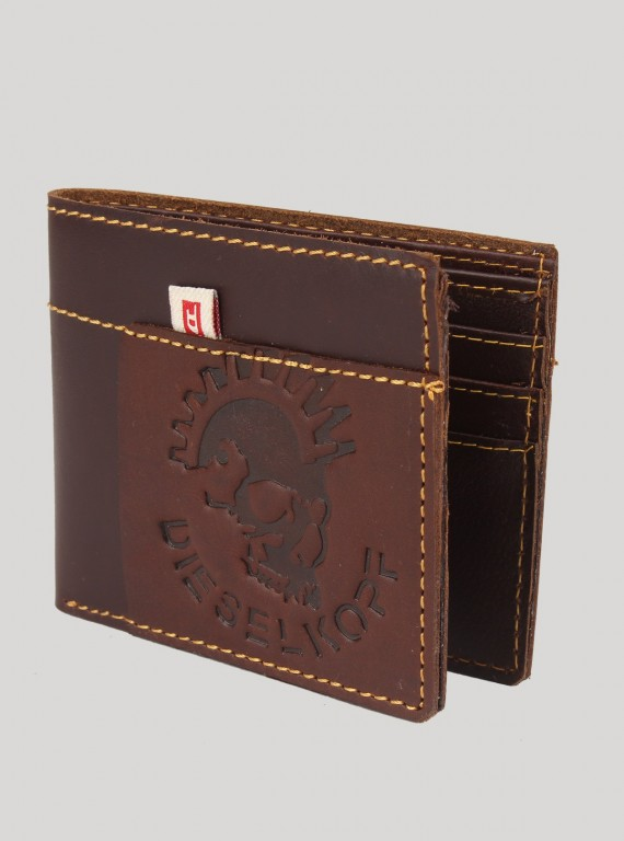 Brown Designer Stitch Wallet