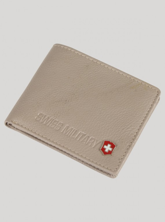 Soft Grey Leather Wallet Boer and Fitch - 1