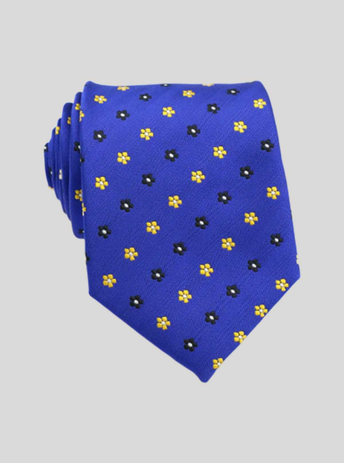 Royal Jacuard Floral Design Tie Boer and Fitch - 1