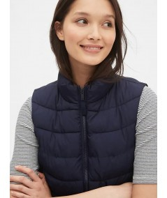 Navy Puffer Vest Jacket Boer and Fitch - 3