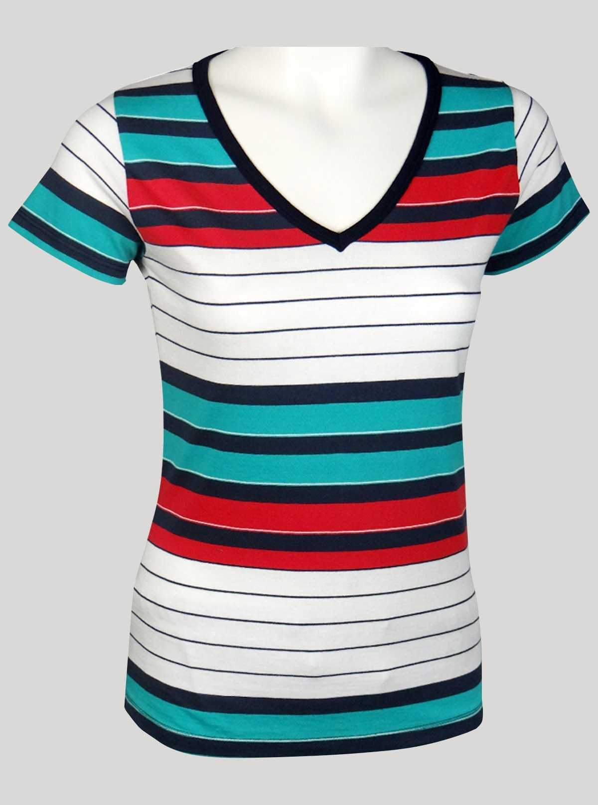 Multi Colour Eng Stripped Top