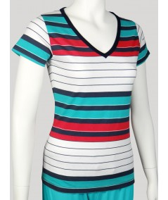 Multi Colour Eng Stripped Top Boer and Fitch - 3