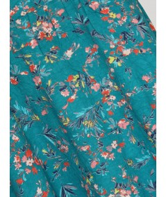 Sky Blue Floral Print Skirt Boer and Fitch - 2