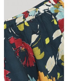 Rouge Contrast Floral Short Skirt Boer and Fitch - 2