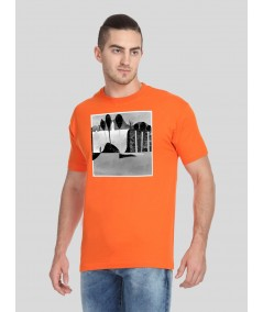 Orange Paper Print TShirt Boer and Fitch - 2