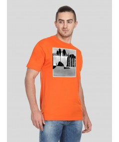 Orange Paper Print TShirt Boer and Fitch - 3