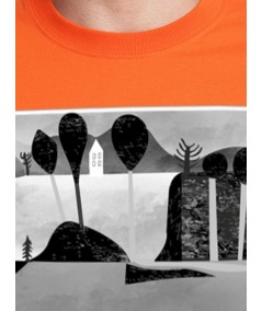 Orange Paper Print TShirt Boer and Fitch - 4