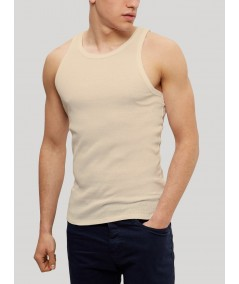 Beige Rib Vest Boer and Fitch - 3