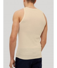Beige Rib Vest Boer and Fitch - 4