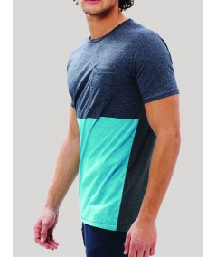 Turquiose Cut & Sew TShirt Boer and Fitch - 2