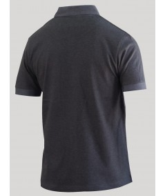 Dark Melange Button Polo TShirt Boer and Fitch - 2
