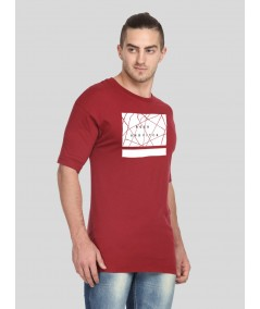 Burgundy Printed TShirt Boer and Fitch - 1