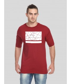 Burgundy Printed TShirt Boer and Fitch - 4