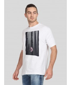 White Graphic Print TShirt Boer and Fitch - 4
