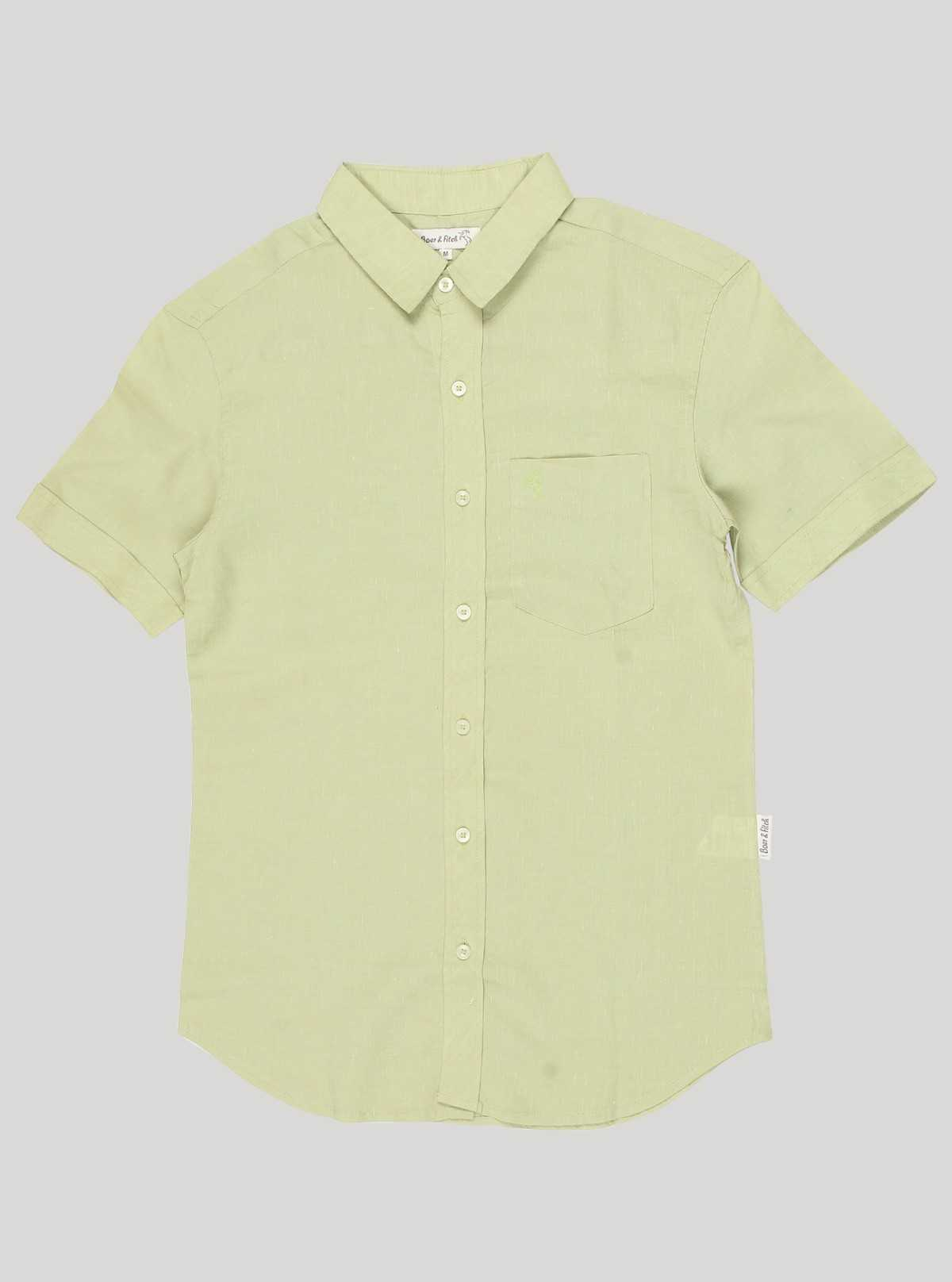 Slim Fit - Lime Linen Shirt Boer and Fitch - 3