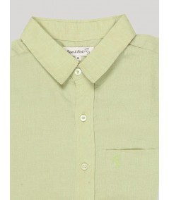 Slim Fit - Lime Linen Shirt Boer and Fitch - 4
