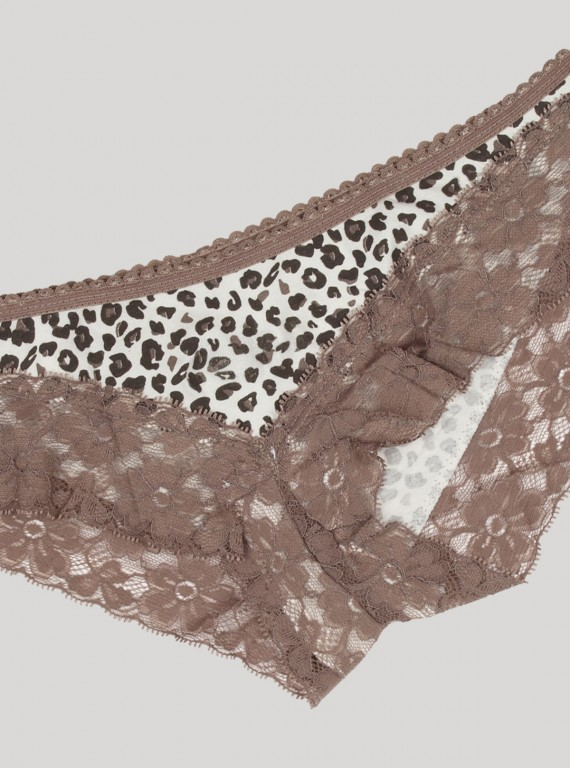 Brown Lace Panty Boer and Fitch - 2